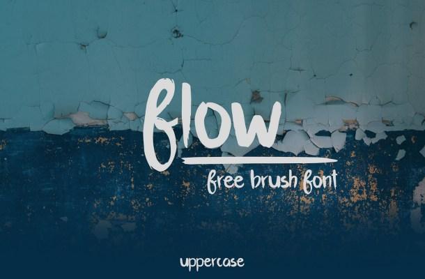 Flow – Free Brush Script Font