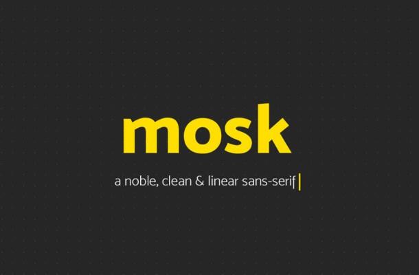 Mosk Free Typeface