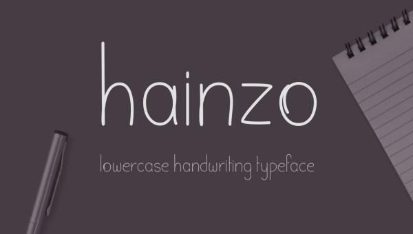 Hainzo Free Handwriting Font