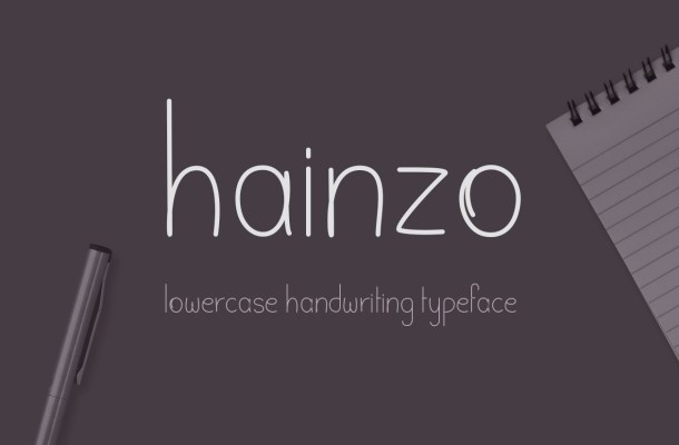 Hainzo Free Handwriting Font