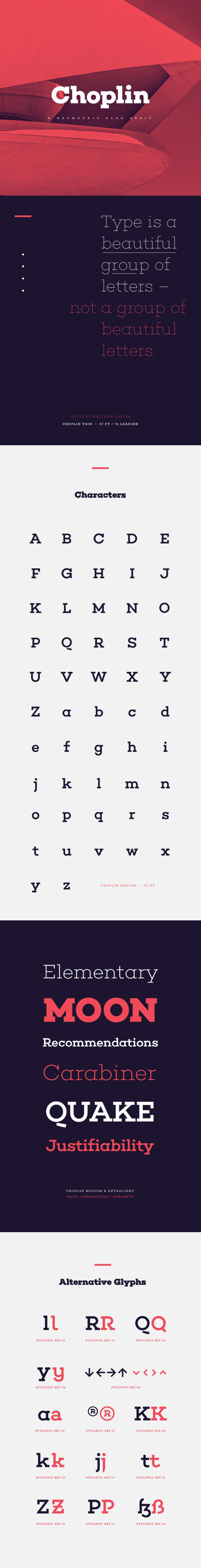 Choplin Free Font - Fontfabric