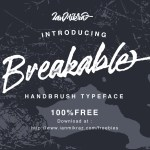 Breakable Free Font