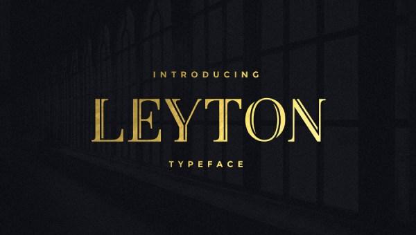 Leyton Free Fancy Font