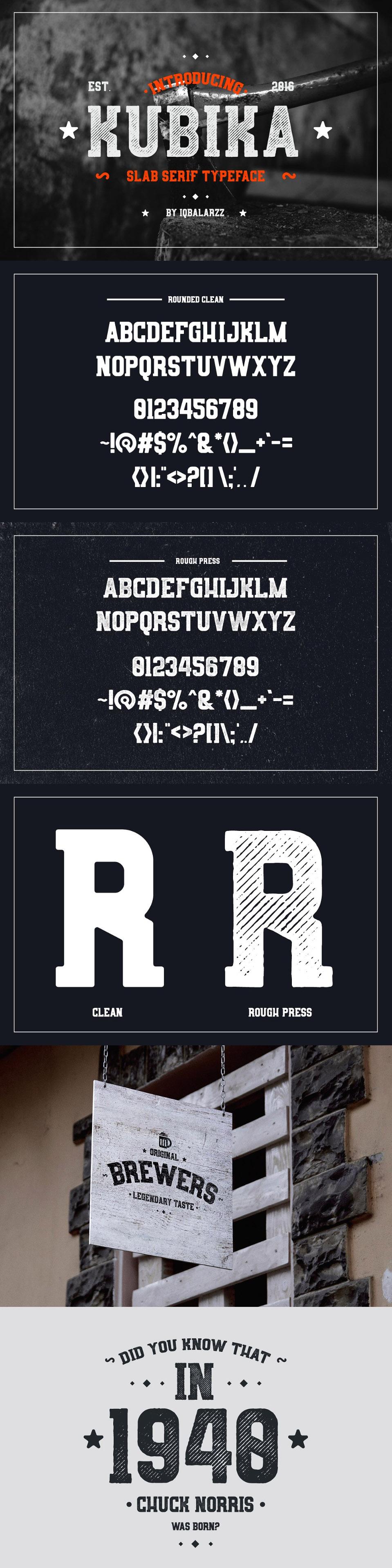 Kubika Typeface