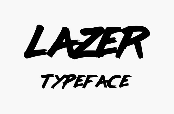 Lazer Free Brush Font