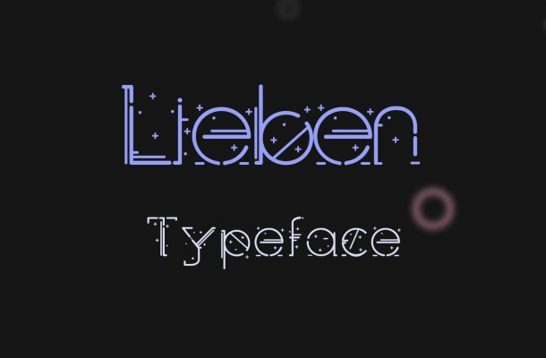 Lieben Free Display Typeface