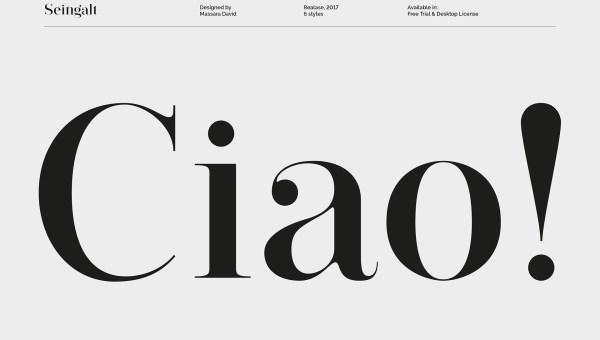 Seingalt Free Font