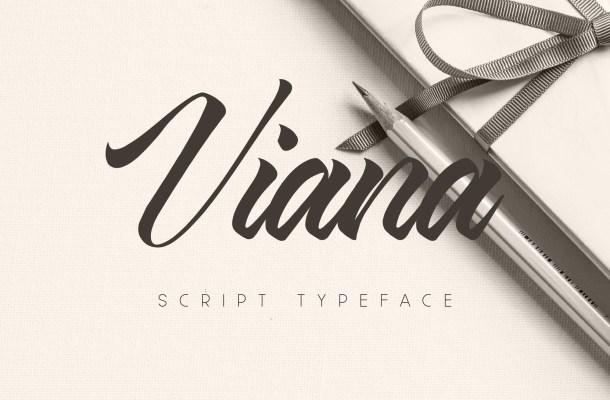 Viana Free Script Handwritten Font