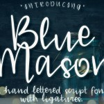 Blue Mason Free Script Font