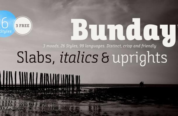 Bunday Slab Free Font
