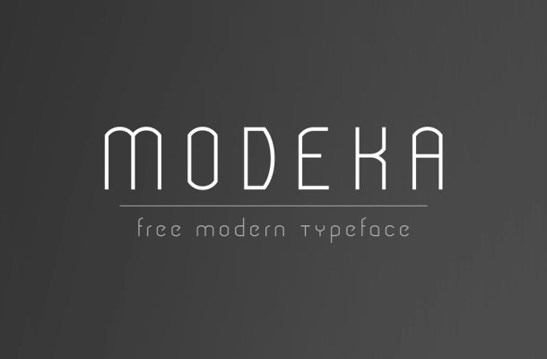MODEKA Free Modern Font