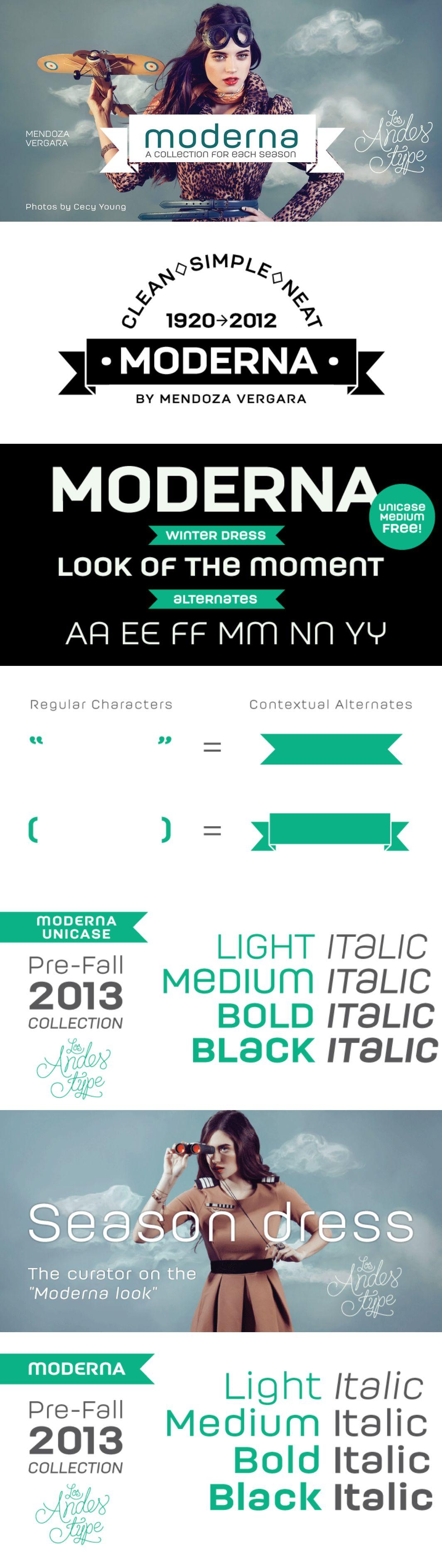 moderna font