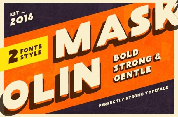 Maskoolin Free Bold Typeface