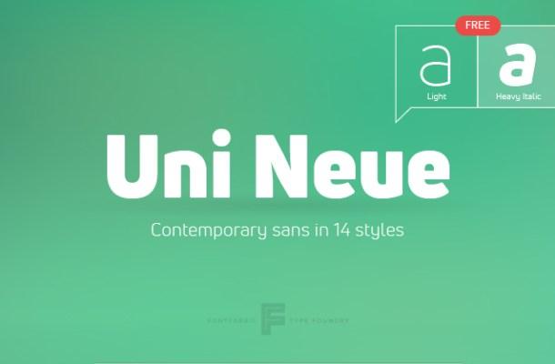 Uni Neue Free Font