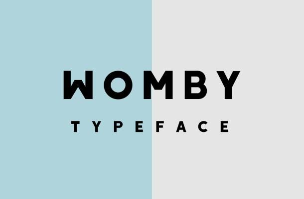 Womby Free Sans Serif Font
