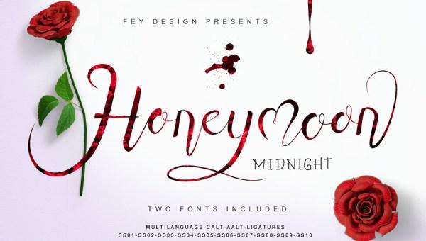 Honey Moon Midnight Free Font