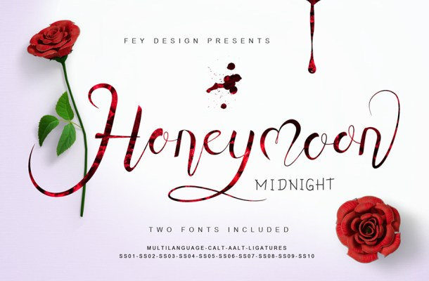 Honey Moon Midnight Free Font