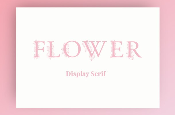 Flower Free Display Serif Font