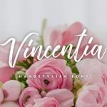 Vincentia Script Font Free