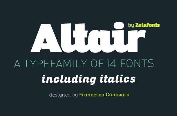 Altair Free Sans Serif Family