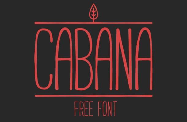 Cabana Free Handmade Font