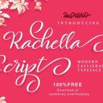 Rachella Free Script Typeface
