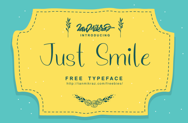 Just Smile Free Font