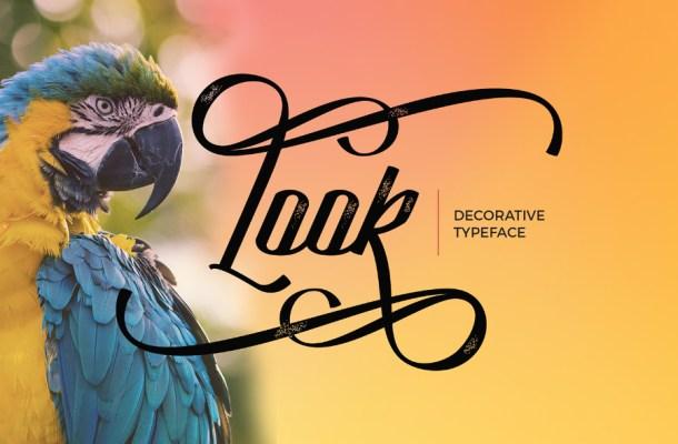 Look Decorative Free Script Font