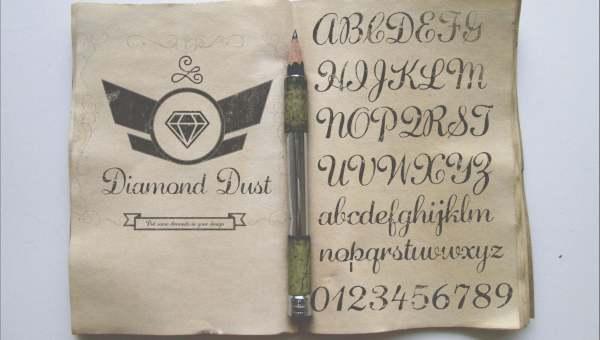 Diamond Dust Free Script Font