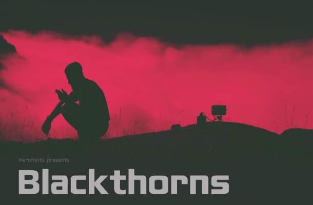 Blackthorns Free Sans Serif Font