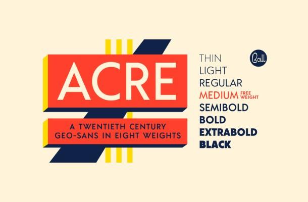 Acre Free Font