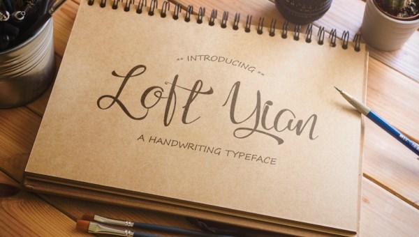 Loft Yian Free Script Typeface