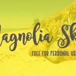 Magnolia Sky Font Free