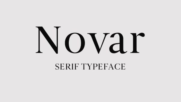 Novar Serif Free Font