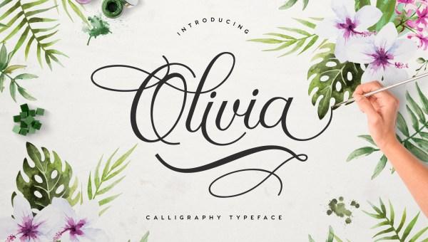 Olivia Free Script Font