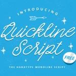 Quickline Free Script Font