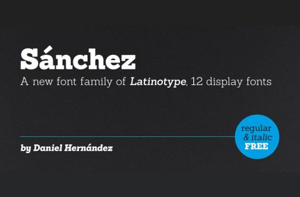 Sanchez Free Slab Serif Font