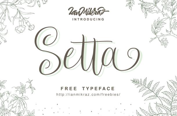 Setta Free Calligraphy Script Typeface
