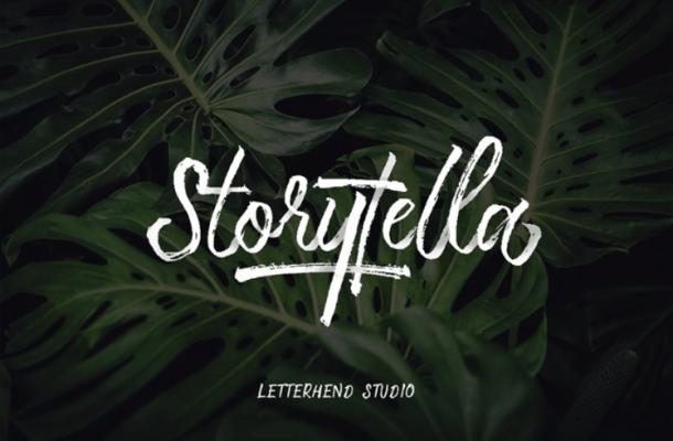Storytella Brush Free Font