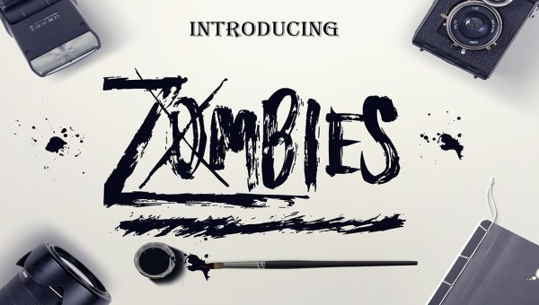 Zombies Free Brush Font