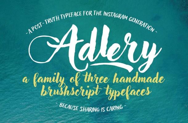 Adlery Free Brush Font