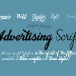 Advertsing Script Free Font