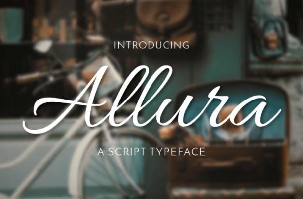 Allura Free Script Font