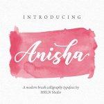 Anisha Free Calligraphy Font
