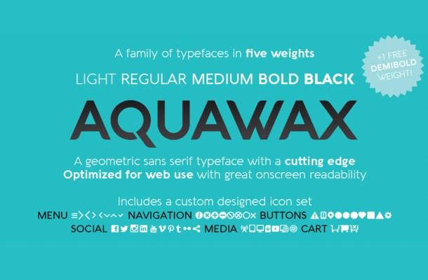 Aquawax Free Font