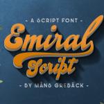 Emiral Script Free Font
