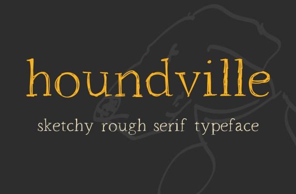 Houndville Free Sketchy Font