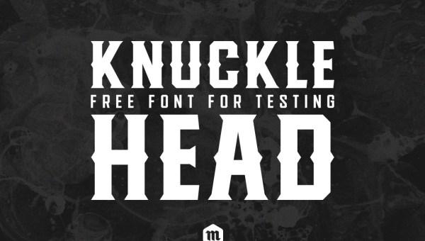 Knucklehead Free Vintage Font