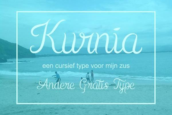 Kurnia Free Script Font