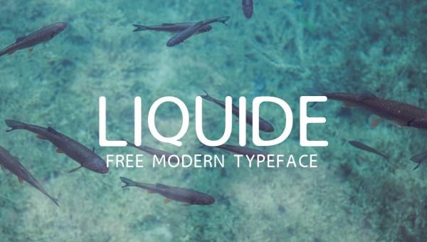LIQUIDE Free Modern Font